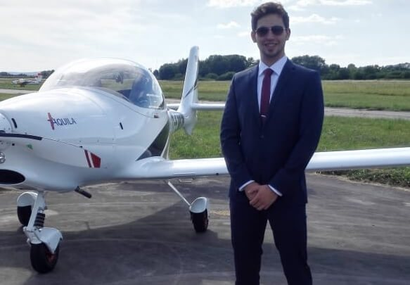 Commercial Pilot Pierre Yves Wehr
