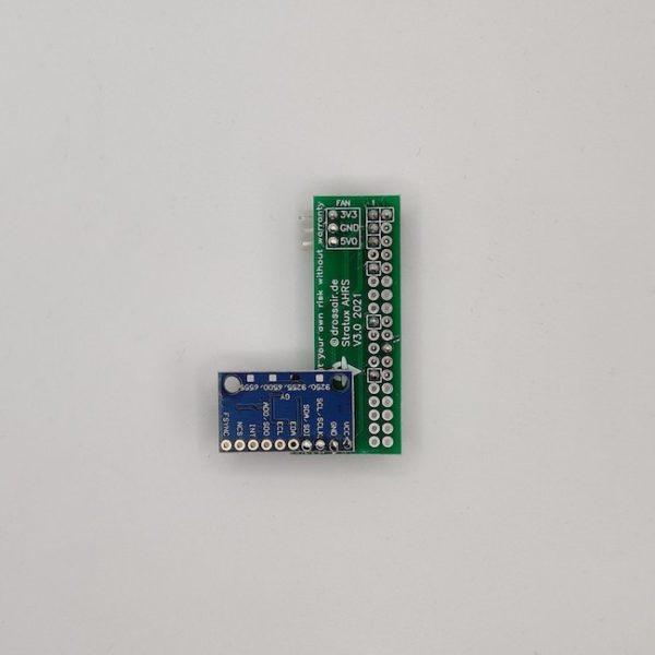 assembled plug & play ready AHRS + Altitude Sensor Board for Stratux Flarm - newest generation: MPU9255 + BMP280 in forward sensor orientation (v3)